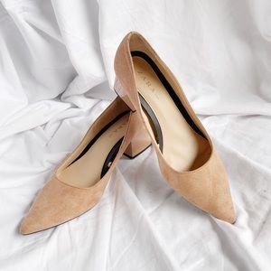 Zara low block heels